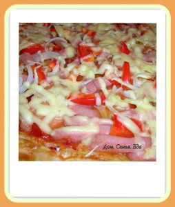 Пицца на слоеном тесте