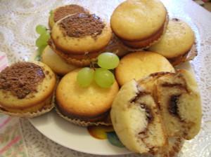 Кексики с разными начинками на растительном масле