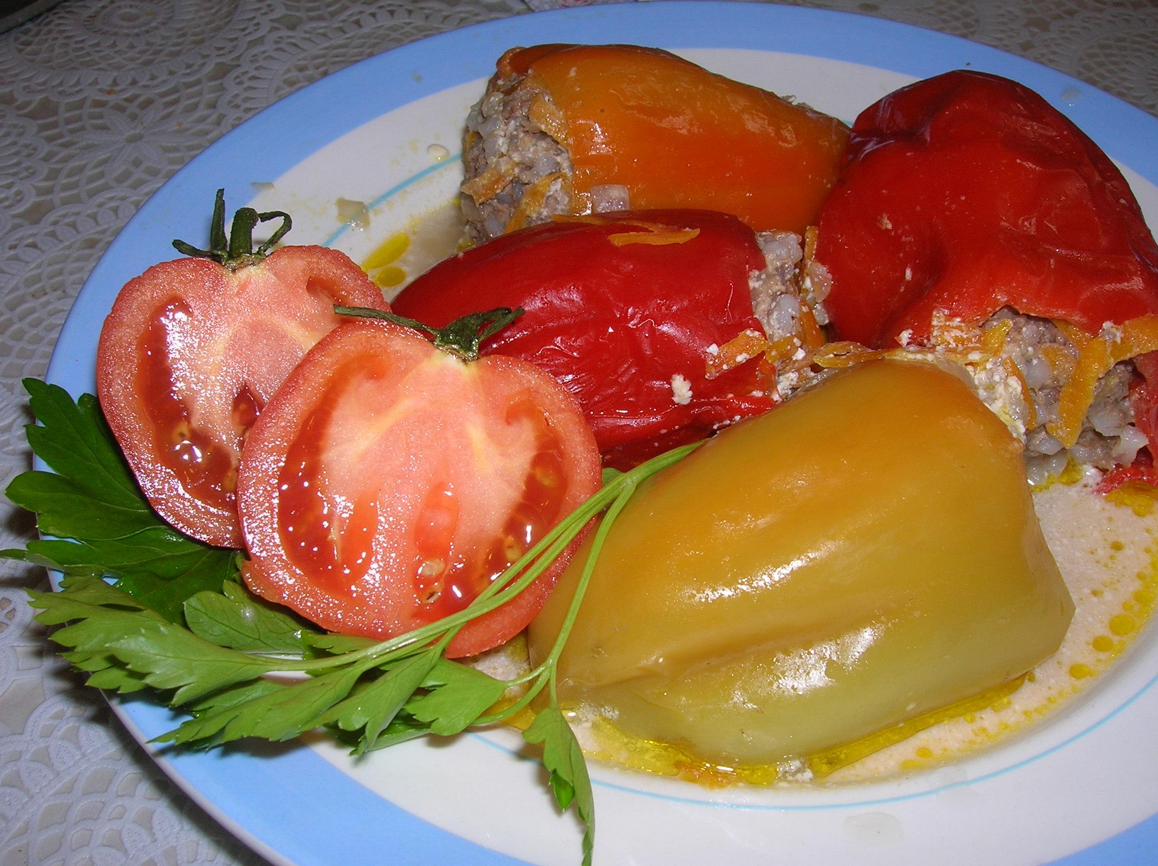Перцы фаршированные с овощами рецепт пошагово в