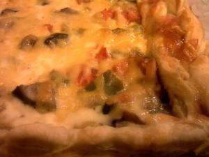 Пирог овощной на слоеном тесте